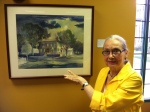 "Kay Smith with ""The Lincoln Home by Moonlight"""