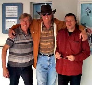 Brian and Martin pose with Keith Riker (middle) in this archive photo from their blog site