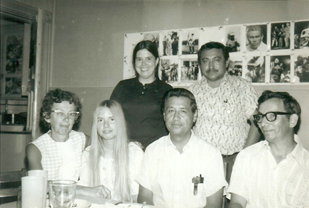 Cesar Chavez, front row third from left Andrea & Marcos Munoz in back