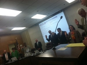 The new 186 school board is sworn in