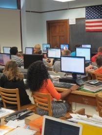 Computer programming class at Springfield High School