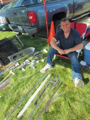 Mike Knisley sells parts his dad collected