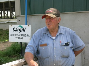 "Hog farmer Bob Young had to overcome lawsuits from his neighbors before buidling his confinement facility near Rochester, Ill. Says Young: ""There are a few (city people) that come out here and think we got to change everything so we can make it city living. And that won't work.""(Bill Wheelhouse/Harvest Public Media)"