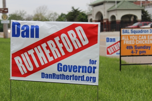 Rutherford campaign sign
